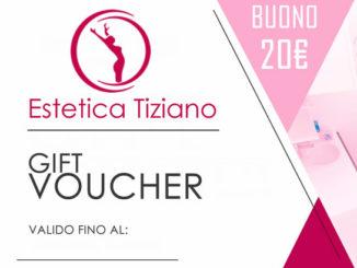 buono di benvenuto da venti euro centro estetico Tiziano roma talenti